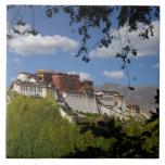 China, Tíbet, Lasa, el palacio Potala Tejas Ceramicas