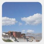 China, Tíbet, Lasa, el palacio Potala Calcomanía Cuadradase