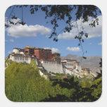 China, Tíbet, Lasa, el palacio Potala Calcomanía Cuadradas Personalizadas