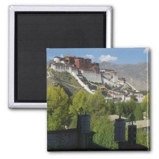China, Tibet, Lhasa, Potala Palace 2 2 Inch Square Magnet