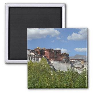 China, Tibet, Lhasa, Potala Palace 3 2 Inch Square Magnet