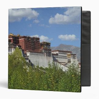 China, Tibet, Lhasa, Potala Palace 3 Vinyl Binder