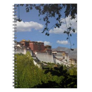 China, Tibet, Lhasa, Potala Palace Spiral Notebook