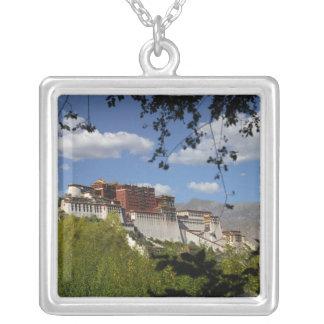 China, Tibet, Lhasa, Potala Palace Silver Plated Necklace