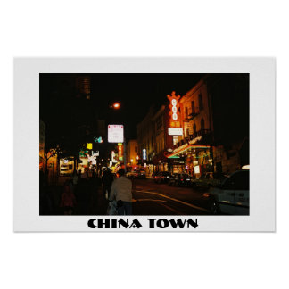 China Town By Night Poster