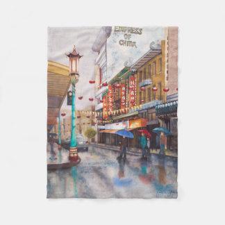 China Town Fleece Blanket