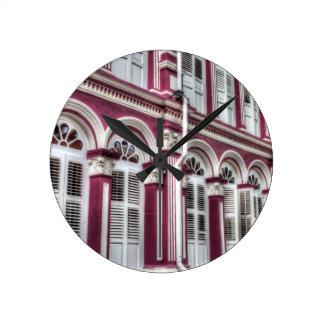 China Town Singapore Round Clock