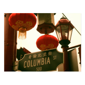 China Town Street Sign Postcard