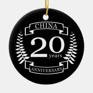 20th Wedding Anniversary Ornaments Keepsake Ornaments