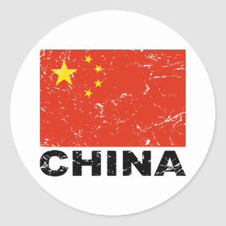 China Vintage Flag Classic Round Sticker