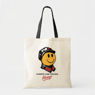 china walmart smiley face mao always low prices tote bag