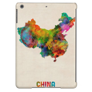 China Watercolor Map Case For iPad Air