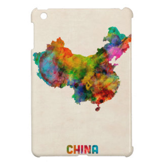 China Watercolor Map Cover For The iPad Mini