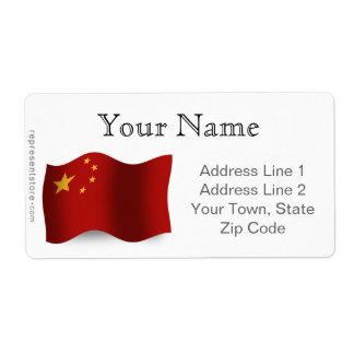 China Waving Flag Shipping Label