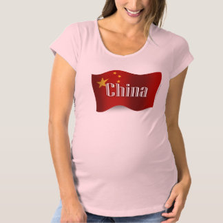 China Waving Flag Maternity T-Shirt