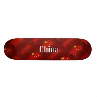 China Waving Flag Skateboard