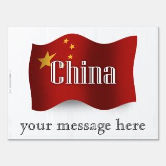 China Waving Flag Signs
