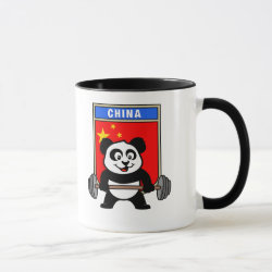 Combo Mug with Chinese Weightlifting Panda design