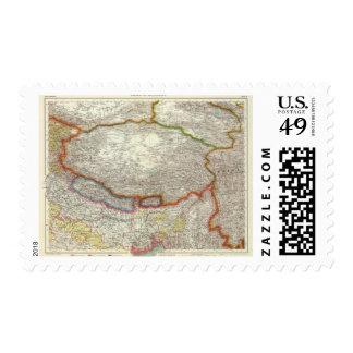 China y Tíbet Timbre Postal