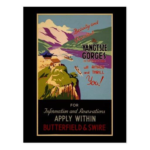 China Yangtze gorges Postcard