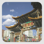 CHINA, Yunnan Province, Kunming. Memorial Arch Square Sticker