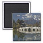 CHINA, Yunnan Province, Lijiang. Lijiang Old 2 Inch Square Magnet