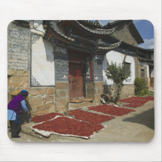 CHINA, Yunnan Province, Tianshengying. Drying Mouse Pad