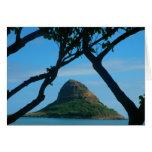 Chinaman's Hat, Oahu Greeting Card