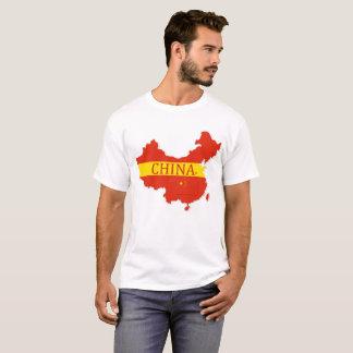 China's Map Designer Name Brand T-Shirt
