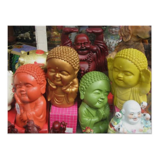 Chinatown Buddhas Print