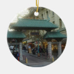 Chinatown de San Francisco Adorno Redondo De Cerámica