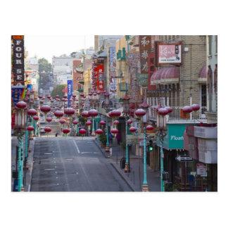 Chinatown en la calle de Grant en San Francisco, Tarjetas Postales