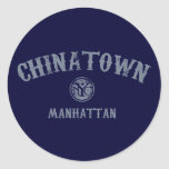 Chinatown Etiquetas Redondas