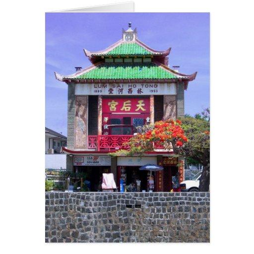 Chinatown Honolulu Tarjeta De Felicitación