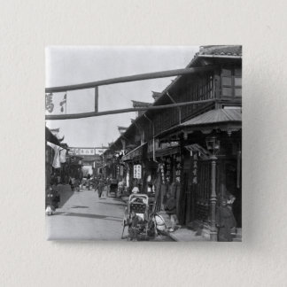 Chinatown in Shanghai, late 19th century Button