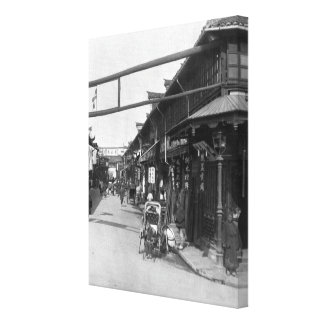 Chinatown in Shanghai, late 19th century Canvas Print