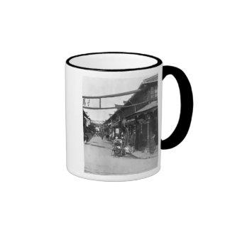 Chinatown in Shanghai, late 19th century Coffee Mugs