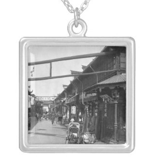 Chinatown in Shanghai, late 19th century Silver Plated Necklace