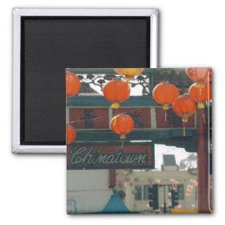 Chinatown Los Ángeles Imán Cuadrado
