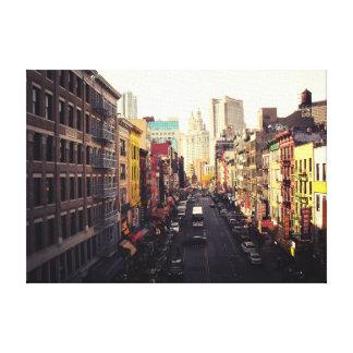 Chinatown New York City Impresión En Lona Estirada