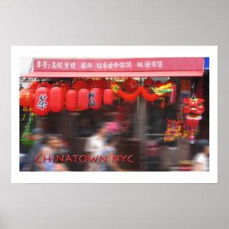 Chinatown, New York City Poster