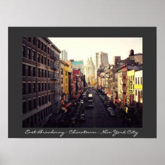 Chinatown  - New York City Poster