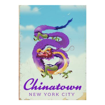USA Themed Chinatown New York city vintage poster