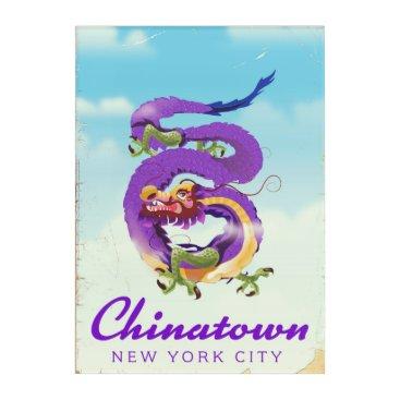 USA Themed Chinatown New York city vintage poster Acrylic Print