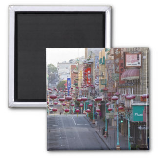 Chinatown on Grant Street in San Francisco, 2 Inch Square Magnet