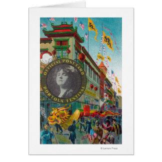 Chinatown Parade for Portola Festival Card