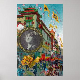 Chinatown Parade for Portola Festival Poster