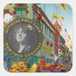 Chinatown Parade for Portola Festival Square Sticker