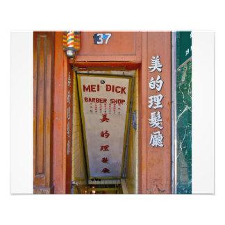 Chinatown, peluquería de caballeros de NYC- Fotografía
