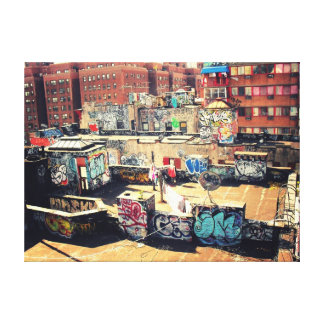 Chinatown Rooftop Graffiti Canvas Print